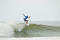 "LOWER TRESTLES, California/USA (Wednesday, September 21, 2011) Owen Wright (AUS).   - Kelly Slater (USA), 39, has won his fifth Hurley Pro at Trestles title, defeating Owen Wright (AUS), 21, in a hard-fought Final that saw the iconic Floridian overtake the young Australian in a last-minute exchange with a final score of 17.50 to 16.74...Slater and Wright's third consecutive Final bout marks a first in ASP history, as no two competitors have faced off in three successive ASP Dream Tour Finals - a noteworthy statistic in sparking this new rivalry in the battle for the ASP World Title...Slater roared to life on the Final day, unloading the highest heat-total of competition, 18.40 out of 20 in the Semifinals, and maintained his lethal form throughout the day's entirety with a consistent display of new-school airs and patented carves to clinch his unprecedented 48th elite ASP World Tour victory and third of the season...""Owen (Wright) is tough and he's been surfing great,"" Slater said. ""There really are no weak points to his surfing and he's going to be a standout in every spot. A lot of the guys tried to get him this week and I got lucky in that last exchange. I was taking the first wave of the set under his priority and once I got priority I wanted to wait. It almost looked like there wasn't a wave after Owen's. It's been fun surfing against Owen and surfing Lowers. It's been a great week and thanks everyone for the crazy support, it's been wonderful.""..Wright, current No. 2 on the ASP World Title rankings, has continued to build momentum throughout his sophomore year amongst the ASP Top 34 and dispatched of a rampaging Mick Fanning (AUS), 30, and rookie prodigy Julian Wilson (AUS), 22, en route to his rematch against Slater, but was unable to solidify the victory over the veteran in the Final.  Photo: joliphotos.com"