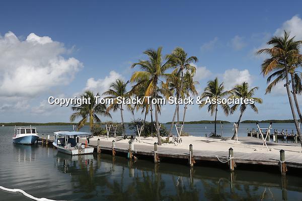 Small boat harbor in Islamorada, Florida Keys