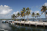 Small boat harbor in Islamorada, Florida Keys