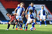 Lloyd Kelly of Bournemouth left is outnumbered by Blackburn Rovers players during AFC Bournemouth vs Blackburn Rovers, Sky Bet EFL Championship Football at the Vitality Stadium on 12th September 2020