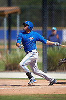 Toronto Blue Jays Juan Tejada (29) during a minor league Spring Training game against the New York Yankees on March 22, 2016 at Englebert Complex in Dunedin, Florida.  (Mike Janes/Four Seam Images)