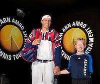 Februari 13, 2015, Netherlands, Rotterdam, Ahoy, ABN AMRO World Tennis Tournament, Gilles Muller (LUX)<br /> Photo: Tennisimages/Henk Koster