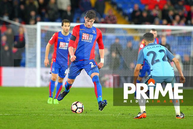 Crystal Palace's Joel Ward runs at Gael Clichy of Manchester City during the FA Cup fourth round match between Crystal Palace and Manchester City at Selhurst Park, London, England on 28 January 2017. Photo by PRiME Media Images / Steve McCarthy.