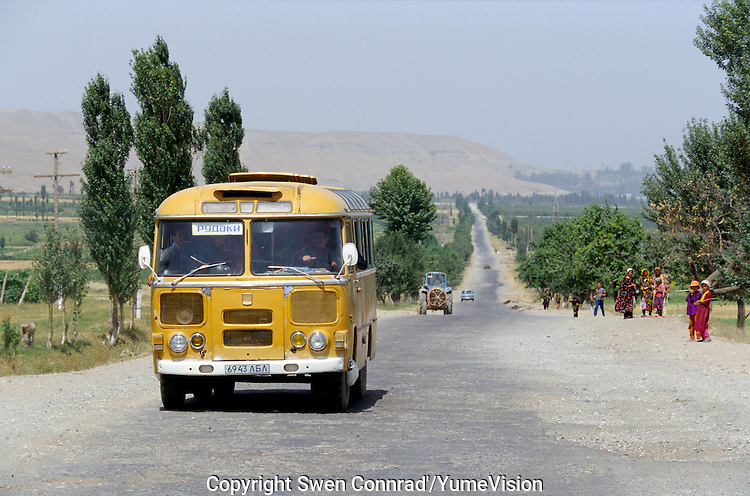The road between Kul'Ab and Dushanbe south east Tadzhikistan