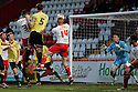 Mark Roberts of Stevenage heads for goal. - Stevenage v Carlisle United - npower League 1 - Lamex Stadium, Stevenage - 17th April, 2012. © Kevin Coleman 2012