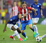 Atletico de Madrid's Filipe Luis (r) and Leicester City FC's Wilfred Ndidi during Champions League 2016/2017 Quarter-finals 1st leg match. April 12,2017. (ALTERPHOTOS/Acero)