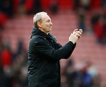 Alan Knill Assistant manager of Sheffield Utd enjoys the crowds acclaim during the Premier League match at Bramall Lane, Sheffield. Picture date: 7th March 2020. Picture credit should read: Simon Bellis/Sportimage