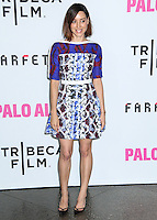 "LOS ANGELES, CA, USA - MAY 05: Aubrey Plaza at the Los Angeles Premiere Of Tribeca Film's ""Palo Alto"" held at the Directors Guild of America on May 5, 2014 in Los Angeles, California, United States. (Photo by Celebrity Monitor)"