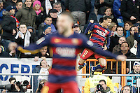 FC Barcelona's Neymar Santos Jr (r) and Jordi Alba celebrate goal during La Liga match. November 21,2015. (ALTERPHOTOS/Acero) /NortePhoto