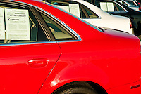 Used car dealership.