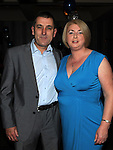 Packy Carolan celebrating his 50th birthday in the Star & Crescent with partner Sandra Quinn. Photo:Colin Bell/pressphotos.ie