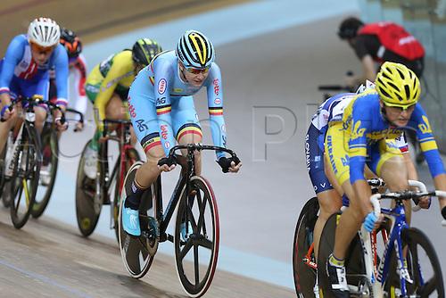 21.10.2016. Saint Quentin-en-Yvelines. Paris. UEC Track Elite European Championship.  DHOORE Jolien BEL silve rmedal womens points race
