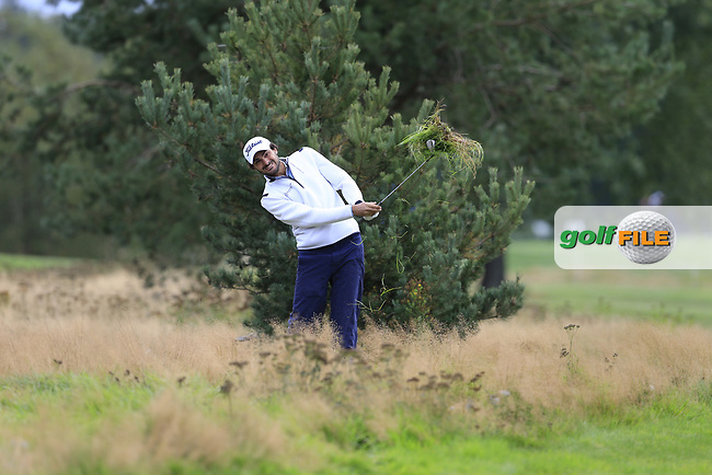 Clement Sordet (FRA) on the 18th during the 1st round at the Porsche European Open, Green Eagles Golf Club, Luhdorf, Winsen, Germany. 05/09/2019.<br /> Picture Fran Caffrey / Golffile.ie<br /> <br /> All photo usage must carry mandatory copyright credit (© Golffile | Fran Caffrey)
