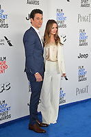 Miles Teller &amp; Kaleigh Sperry at the 2017 Film Independent Spirit Awards on the beach in Santa Monica, CA, USA 25 February  2017<br /> Picture: Paul Smith/Featureflash/SilverHub 0208 004 5359 sales@silverhubmedia.com