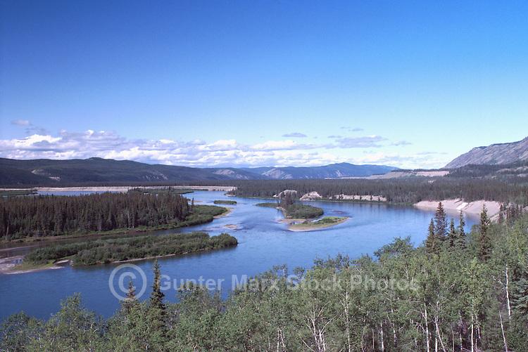 Yukon River along Klondike Highway, near Carmacks, Yukon Territory, Canada - Klondike Region