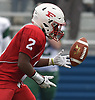 Jayvian Allen #2 of Freeport fields a punt during the Class I Long Island Championship against Floyd at Shuart Stadium in Hempstead on Saturday, Nov. 24, 2018.