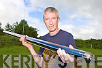 Brian McCarthy Killarney who has started a renewable energy company Sair Wind holding a solar tube and behind him is a wind anemometer in tiernaboul, Killarney on Tuesday