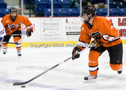 Taylor Fedun (Princeton - 4) - The Princeton University Tigers defeated the University of Massachusetts-Lowell River Hawks 3-2 on Saturday, December 12, 2009, at Tsongas Arena in Lowell, Massachusetts.