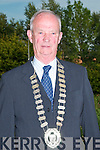 New Mlayor Of Listowel Councillor Abthony Cutrin receives the Mayoral Chain from outgoing Mayor Councillor Tom Walsh at the Listowel Urban Council Offices  in Monday evening.