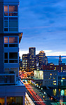 View of downtown Boston from the Park Lane Seaport Apartments.  Photographed for the Park Lane Apartments.