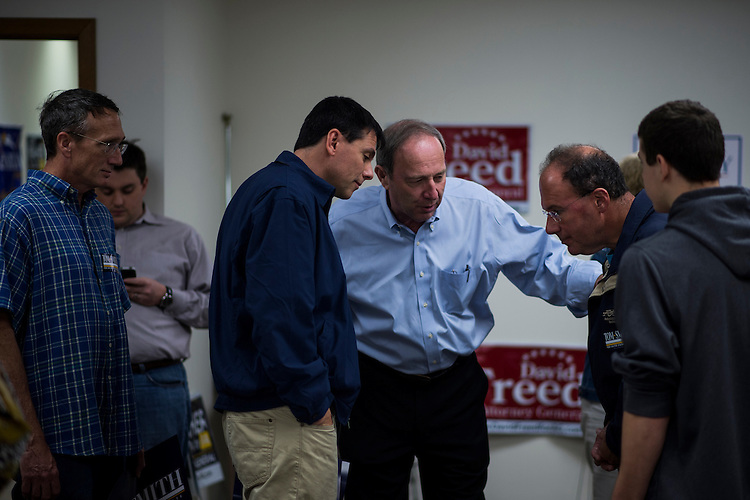 UNITED STATES - OCTOBER 27: Republican candidate for U.S. Senate from Pennsylvania, Tom Smith speaks with supporters at the Monroeville Victory Center in Monroeville, Pa., on Saturday, Oct. 27. 2012. Smith is running against Sen.Bob Casey, D-Pa. (Photo By Bill Clark/CQ Roll Call)