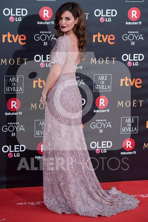 Marta Torne attends red carpet of Goya Cinema Awards 2018 at Madrid Marriott Auditorium in Madrid , Spain. February 03, 2018. (ALTERPHOTOS/Borja B.Hojas)