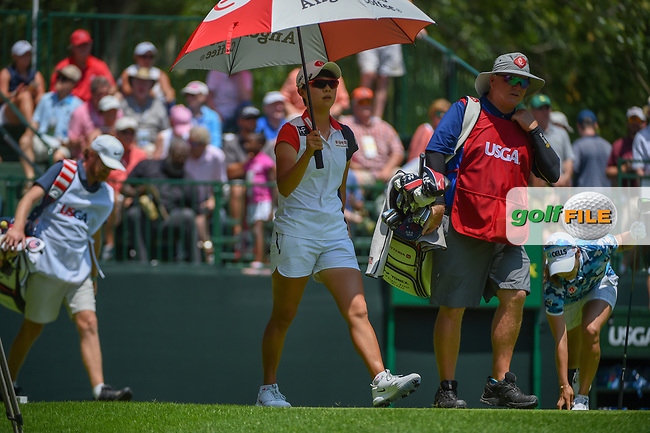 Hyo Joo Kim (KOR) heads down 1 during round 3 of the U.S. Women's Open Championship, Shoal Creek Country Club, at Birmingham, Alabama, USA. 6/2/2018.<br /> Picture: Golffile | Ken Murray<br /> <br /> All photo usage must carry mandatory copyright credit (© Golffile | Ken Murray)