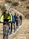 A group of mountain bikers enjoy a ride at Echo Ridge Multi-Use area in the Lake Chelan Valley..