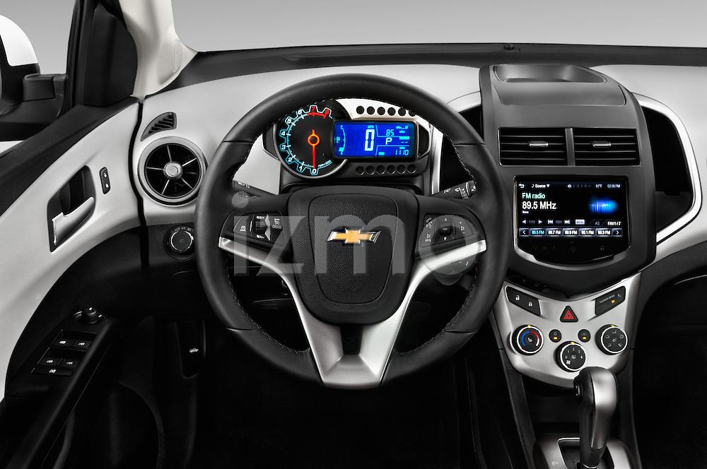 Car pictures of steering wheel view of a 2016 Chevrolet Sonic LTZ 4 Door Sedan Steering Wheel