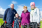 Maurice Brosnan, Jack Brosnan, Mary O'Donoghue and Andrea O' Donoghue at the Tony O'Donoghue Memorial Walk at St Pat's GAA Club on Sunday