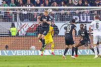 Martin Hinteregger (Eintracht Frankfurt) klärt per Kopfball - 17.02.2019: Eintracht Frankfurt vs. Borussia Mönchengladbach, Commerzbank Arena, 22. Spieltag Bundesliga, DISCLAIMER: DFL regulations prohibit any use of photographs as image sequences and/or quasi-video.