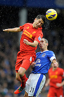 28.10.2012 Liverpool, England. Nuri Sahin of Liverpool    in action during the Premier League game between Everton and Liverpool  from Goodison Park ,Liverpool