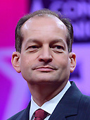 United States Secretary of Labor Alex Acosta speaks at the Conservative Political Action Conference (CPAC) at the Gaylord National Resort and Convention Center in National Harbor, Maryland on Thursday, February 28, 2019.<br /> Credit: Ron Sachs / CNP