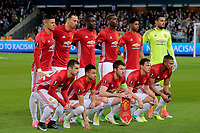BRUSSELS , BELGIUM - APRIL 13 : team picture of Manchester United pictured during  UEFA Europa League quarter final first leg match between Rsc Anderlecht and Manchester United in Brussels, Belgium 13/04/2017. Equipe<br /> Bruxelles 13-04-2016 <br /> Anderlecht - Manchester United Europa League <br /> Foto Panoramic / Insidefoto <br /> ITALY ONLY