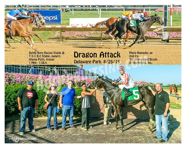 Dragon Attack winning at Delaware Park on 8/25/15