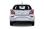 Straight rear view of 2018 Mitsubishi Mirage SE 5 Door Hatchback Rear View  stock images