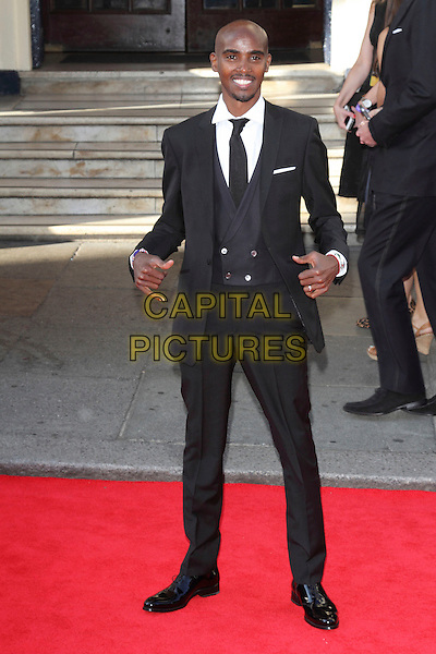 LONDON, ENGLAND - MAY 18: Mo Farah attends the Arqiva British Academy Television Awards at the Theatre Royal Drury Lane on May 18, 2014 in London, England.<br /> CAP/ROS<br /> &copy;Steve Ross/Capital Pictures