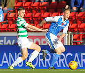 4th November 2017, McDiarmid Park, Perth, Scotland; Scottish Premiership football, St Johnstone versus Celtic; Kieran Tierney with Steven Anderson
