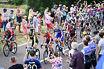 The peloton in action during Stage 8 of the 2018 Tour de France running 181km from Dreux to Amiens Metropole, France. 14th July 2018. <br /> Picture: ASO/Pauline Ballet | Cyclefile<br /> All photos usage must carry mandatory copyright credit (&copy; Cyclefile | ASO/Pauline Ballet)