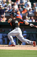 Miami Marlins Brandon Bantz (53) during a Spring Training game against the Detroit Tigers on March 25, 2015 at Joker Marchant Stadium in Lakeland, Florida.  Detroit defeated Miami 8-4.  (Mike Janes/Four Seam Images)