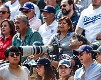 Fotografo de deportes en Record.<br /> Acciones del partido de beisbol, Dodgers de Los Angeles contra Padres de San Diego, tercer juego de la Serie en Mexico de las Ligas Mayores del Beisbol, realizado en el estadio de los Sultanes de Monterrey, Mexico el domingo 6 de Mayo 2018.<br /> (Photo: Luis Gutierrez)