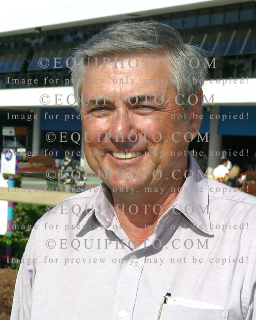 Trainer Carl Nafzger.Photo By EQUI-PHOTO.
