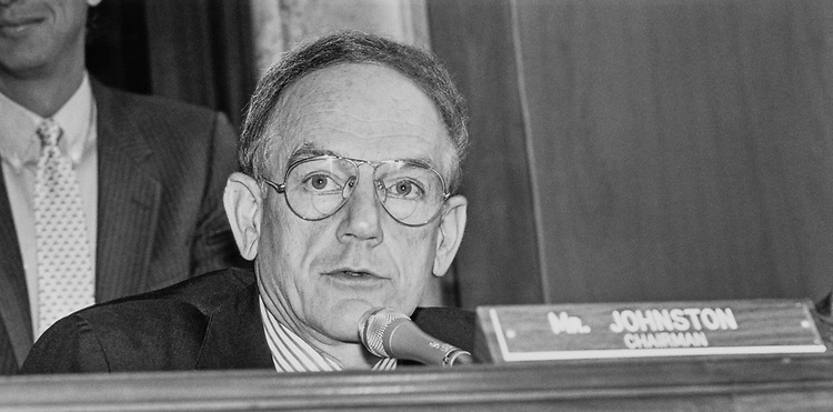 Sen. J. Bennett Johnston, D-La. in May 1990. (Photo by Laura Patterson/CQ Roll Call)