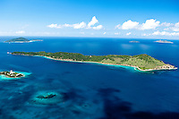 Aerial view of Thatch Cay, U.S. Virgin Islands