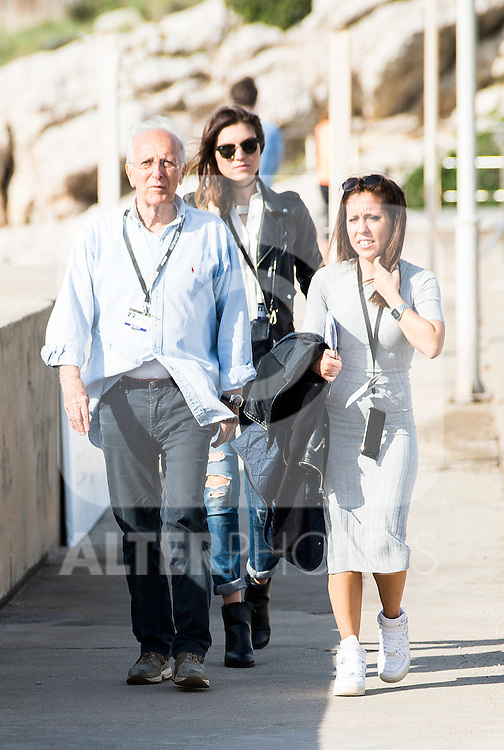 Italian director Ruggero Deodato (L) and Italian actress Carlotta Morelli (C) pose to the media at the photocall in the port at Festival de Cine Fantastico de Sitges in Barcelona. October 11, Spain. 2016. (ALTERPHOTOS/BorjaB.Hojas)