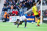 Stockholm 2014-04-06 Fotboll Allsvenskan Djurg&aring;rdens IF - Halmstads BK :  <br /> Djurg&aring;rdens Amadou Jawo reagerar efter en missad m&aring;lchans<br /> (Foto: Kenta J&ouml;nsson) Nyckelord:  Djurg&aring;rden DIF Tele2 Arena Halmstad HBK arg f&ouml;rbannad ilsk ilsken sur tjurig angry