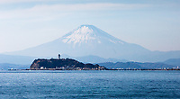 Enoshima and Mount Fuji