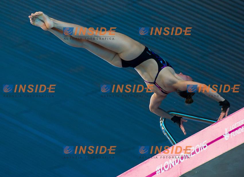 REISINGER Zsofia HUN<br /> London, Queen Elizabeth II Olympic Park Pool <br /> LEN 2016 European Aquatics Elite Championships <br /> Diving<br /> Women's 10m platform preliminary <br /> Day 05 13-05-2016<br /> Photo Giorgio Perottino/Deepbluemedia/Insidefoto