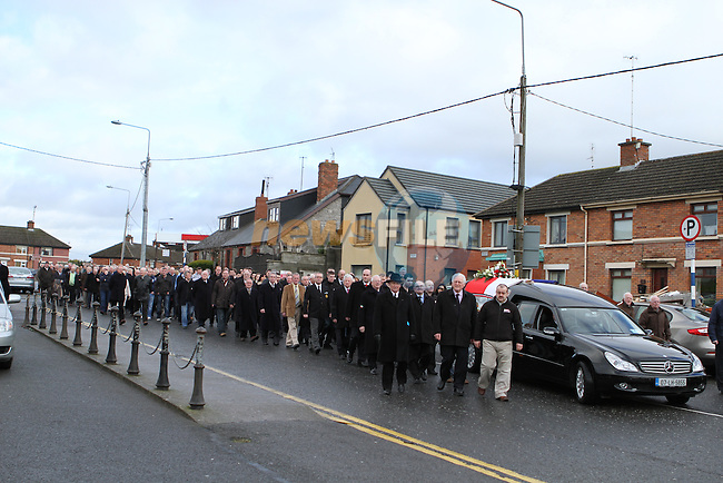 Funeral of Jimmy Mulroy , The former Mayor of Drogheda, Senator & Alderman at Our Lady of Lourdes Church in Drogheda....(Photo credit should read Jenny Matthews/NEWSFILE)...