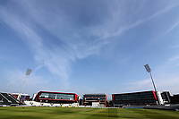 Blue skies over the ground ahead of Lancashire CCC vs Essex CCC, Specsavers County Championship Division 1 Cricket at Emirates Old Trafford on 10th June 2018